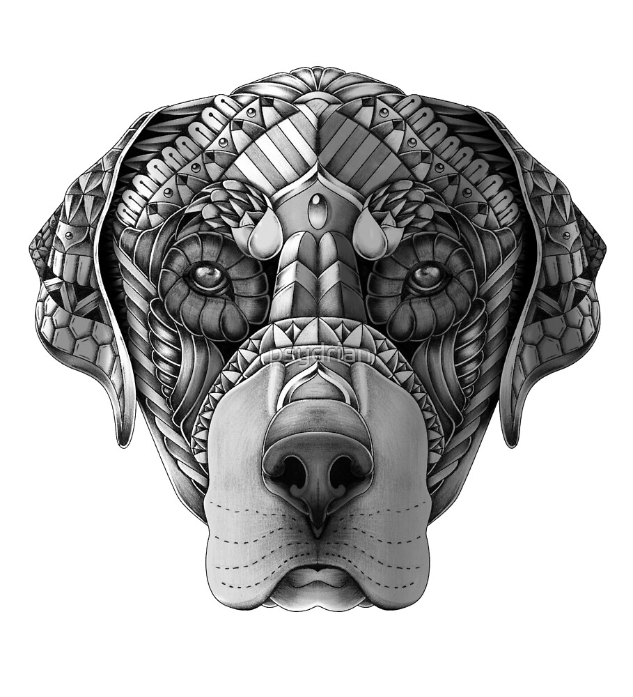 """Ornate Rottweiler"" by psydrian 
