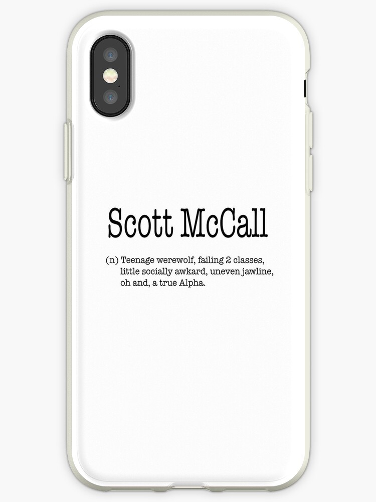 online store 4332b 5be68 'Teen Wolf - Scott McCall' iPhone Case by Littlegreywolf