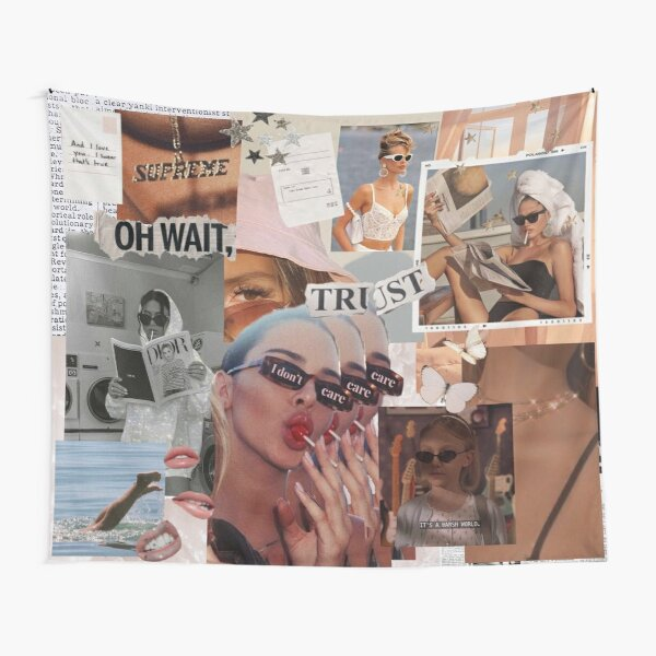 vintage aesthetic collage Tapestry