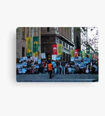 Protest Canvas Print