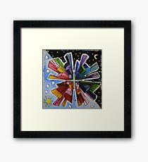 Small World; Big City. Framed Print