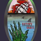 sailor's grave, shipwreck tattoo. by resonanteye