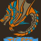 The Circular Roaring Wyvern by drakenwrath