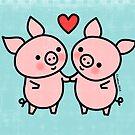 Little Pigs Valentine by Zoe Lathey