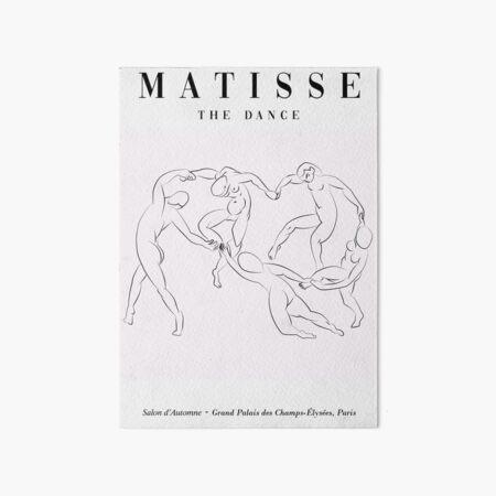 Henri matisse the dancers inspired one line art print, minimal decor Art Board Print