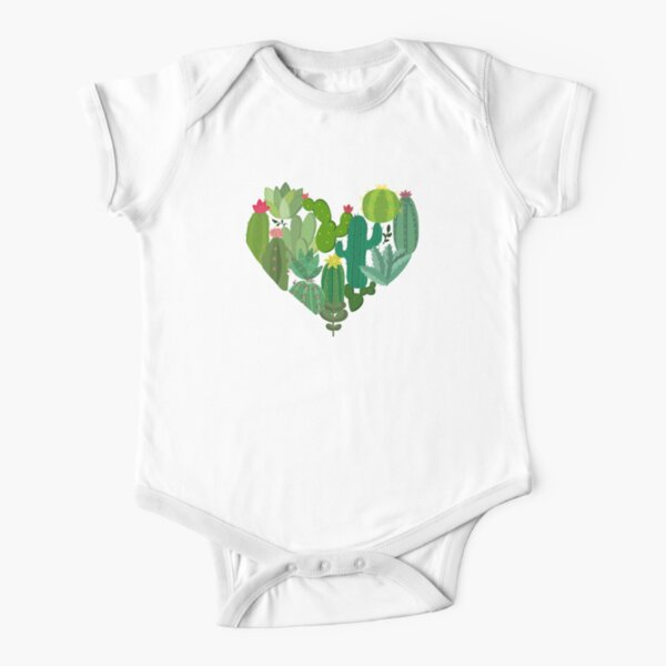 For the love of the cactus Short Sleeve Baby One-Piece