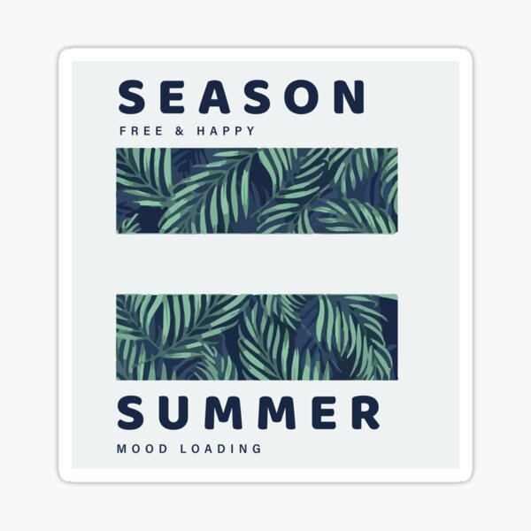 summer vacation flower print Sticker