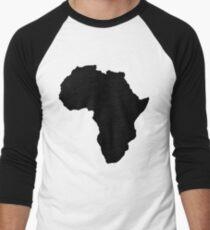 Der Kontinent von Afrika Karte der afrikanischen Nation Baseballshirt für Männer