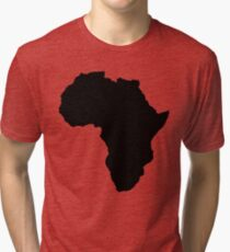 The continent of Africa map of African nation Tri-blend T-Shirt