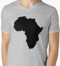 The continent of Africa map of African nation Men's V-Neck T-Shirt