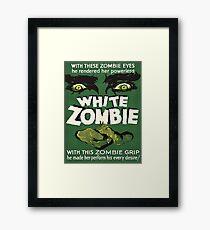 Cool White Zombie Film Poster Framed Print