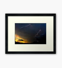 Sunset Lightning Framed Print