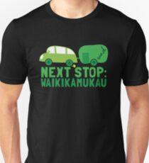 NEXT STOP: Waikikamukau funny fake Kiwi New Zealand travel destination Unisex T-Shirt