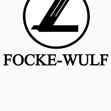 Focke-Wulf Aircraft Logo (Black) by warbirdwear