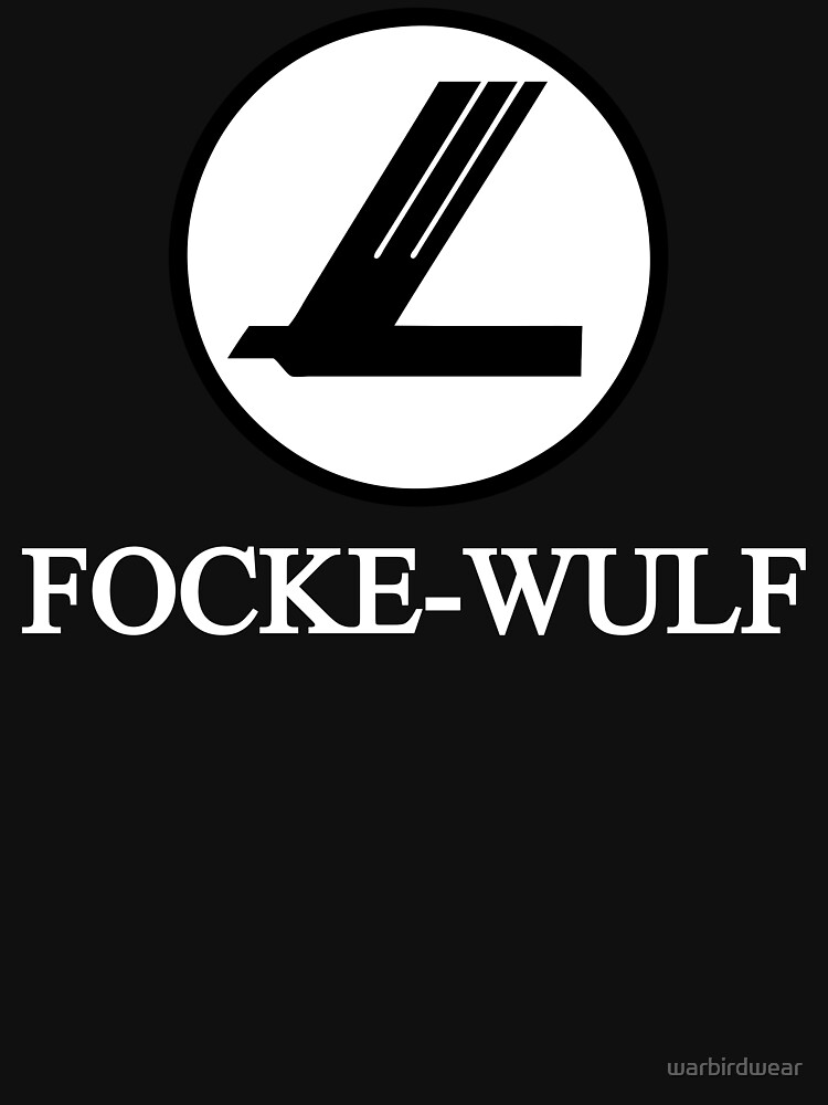 Focke-Wulf Aircraft Logo (White) | Unisex T-Shirt
