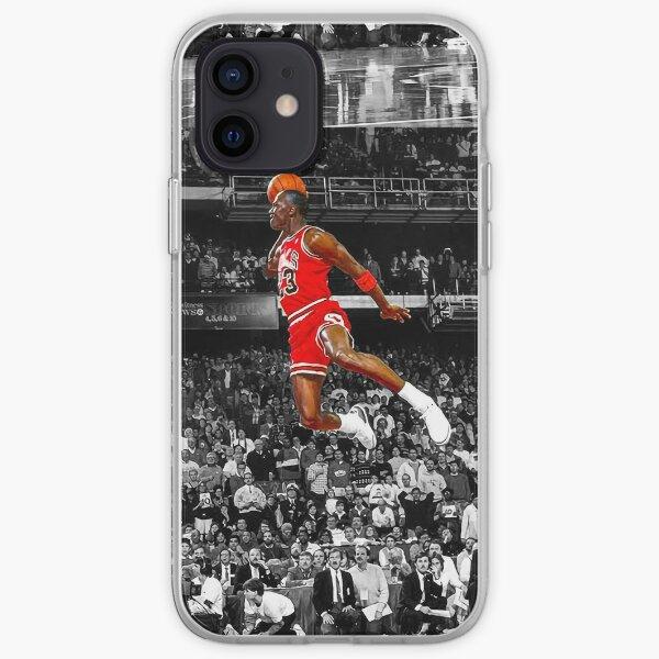 Arte de la pared del cartel de la clavada de Michael Jordan | Dunk de línea de tiro libre infame Funda blanda para iPhone
