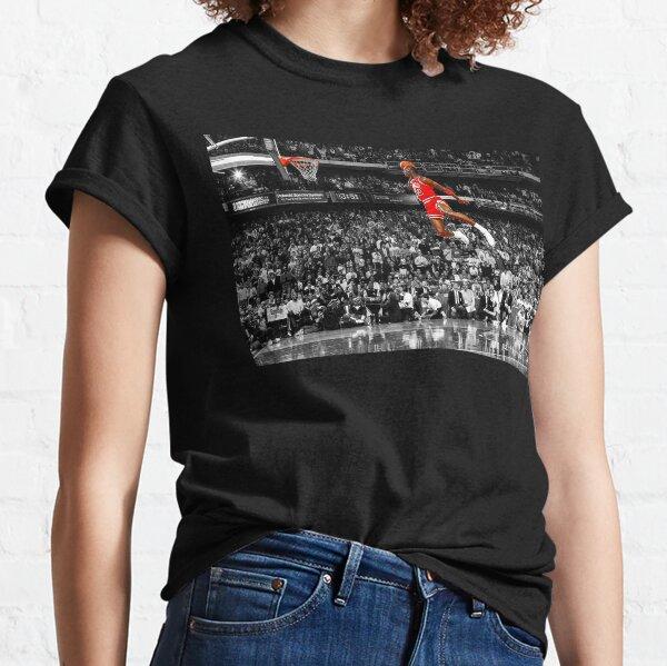 Arte de la pared del cartel de la clavada de Michael Jordan | Dunk de línea de tiro libre infame Camiseta clásica