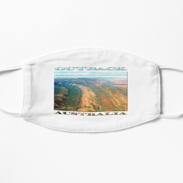 Outback Mountains (poster on white) Flat Mask