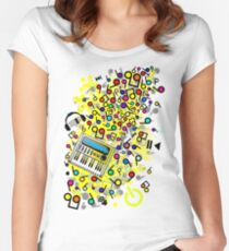 Instant_Music Women's Fitted Scoop T-Shirt