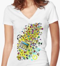 Instant_Music Women's Fitted V-Neck T-Shirt