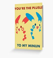 Plusle & Minun Greeting Card