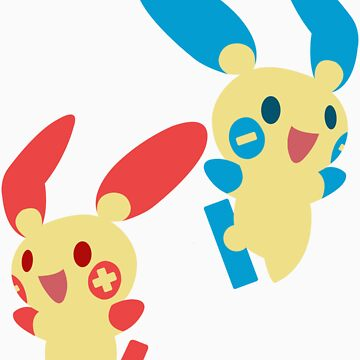 Plusle & Minun by Yourfriendlycat