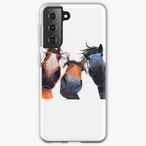 HaPPY HoRSe PRiNT ' WHo LeFT THe GaTe OPeN ? ' BY SHiRLeY MacARTHuR Samsung Galaxy Soft Case