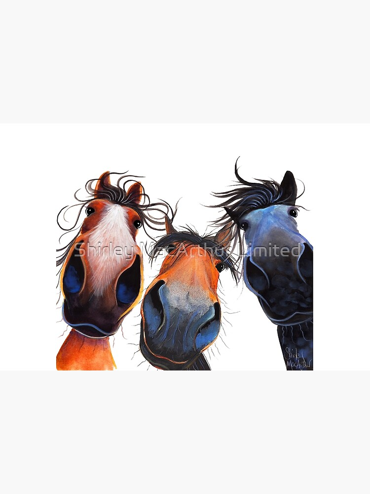 HaPPY HoRSe PRiNT ' WHo LeFT THe GaTe OPeN ? ' BY SHiRLeY MacARTHuR by ShirleyMacA
