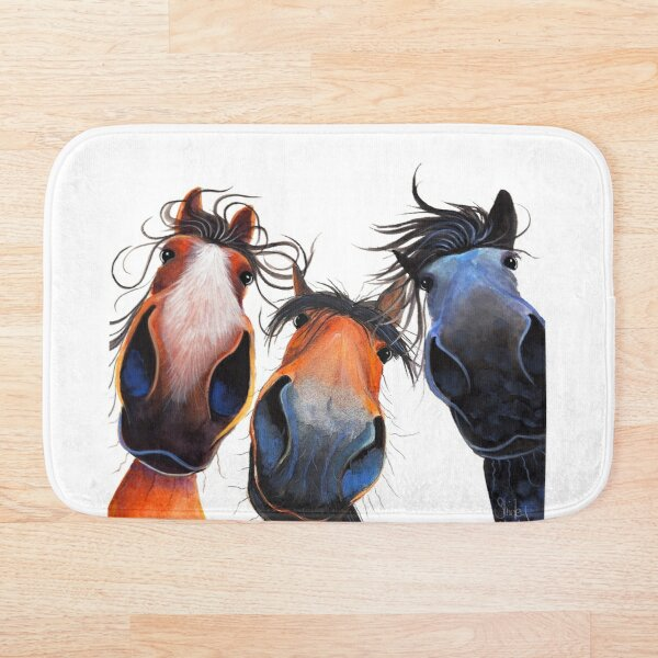HaPPY HoRSe PRiNT ' WHo LeFT THe GaTe OPeN ? ' BY SHiRLeY MacARTHuR Bath Mat