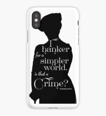 I Hanker for a Simpler World, is That a Crime?  iPhone Case