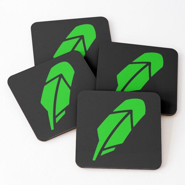 Robinhood Leaf Logo Coasters (Set of 4)