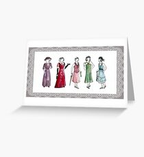 Downton Inspired Fashion Greeting Card
