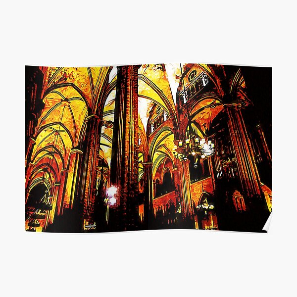 Barcelona, Cathedral of the Holy Cross and Saint Eulalia Poster