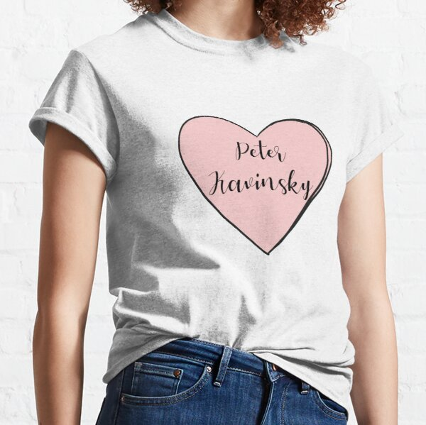To All The Boys I've Loved Before Heart Peter Kavinsky  Classic T-Shirt