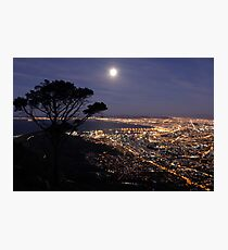 Full Moon from Lions Head Photographic Print