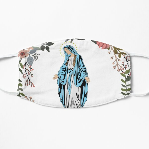 Holy Mary Pray for us Virgin Mary Wall Art Blessed Mother of God Catholic Gift Flat Mask