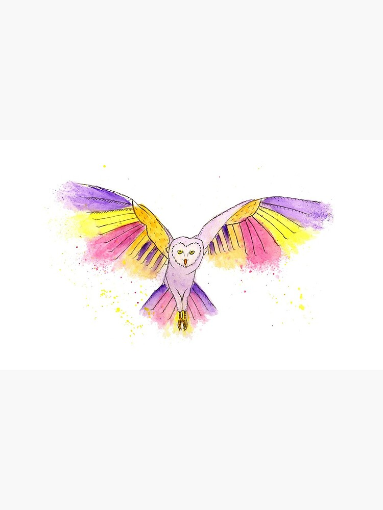 Number 10 in my series of strange birds is the Oogling Multi-Colored Owl by lindaursin
