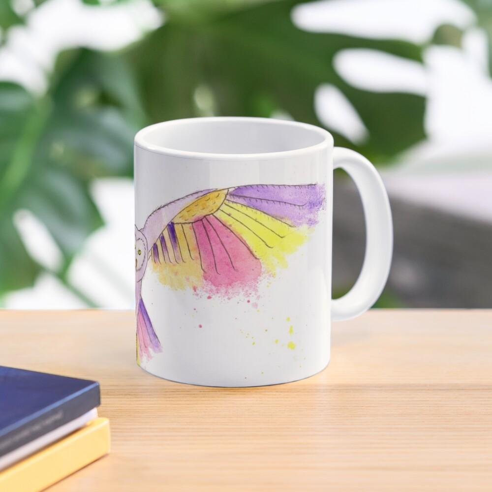 Number 10 in my series of strange birds is the Oogling Multi-Colored Owl Mug