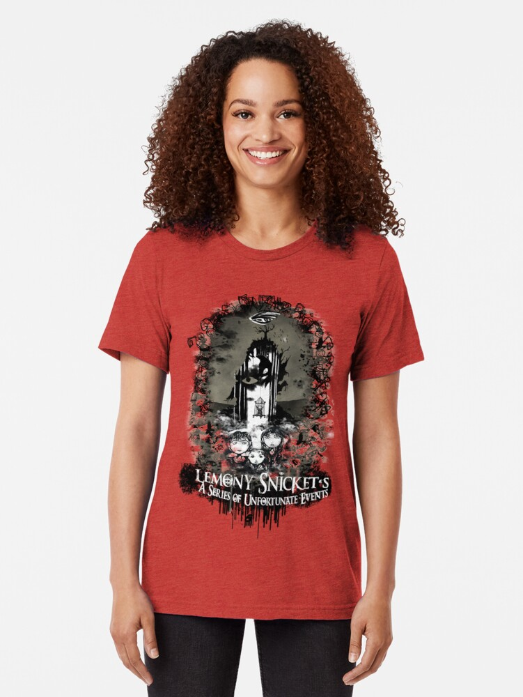 Alternate view of A Series of Unfortunate Events Tri-blend T-Shirt