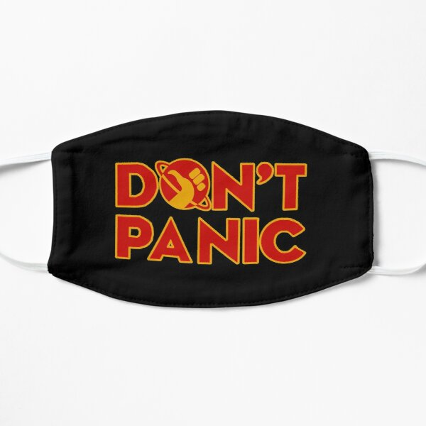 Don't panic The Hitchhiker's Guide to the Galaxy Flat Mask