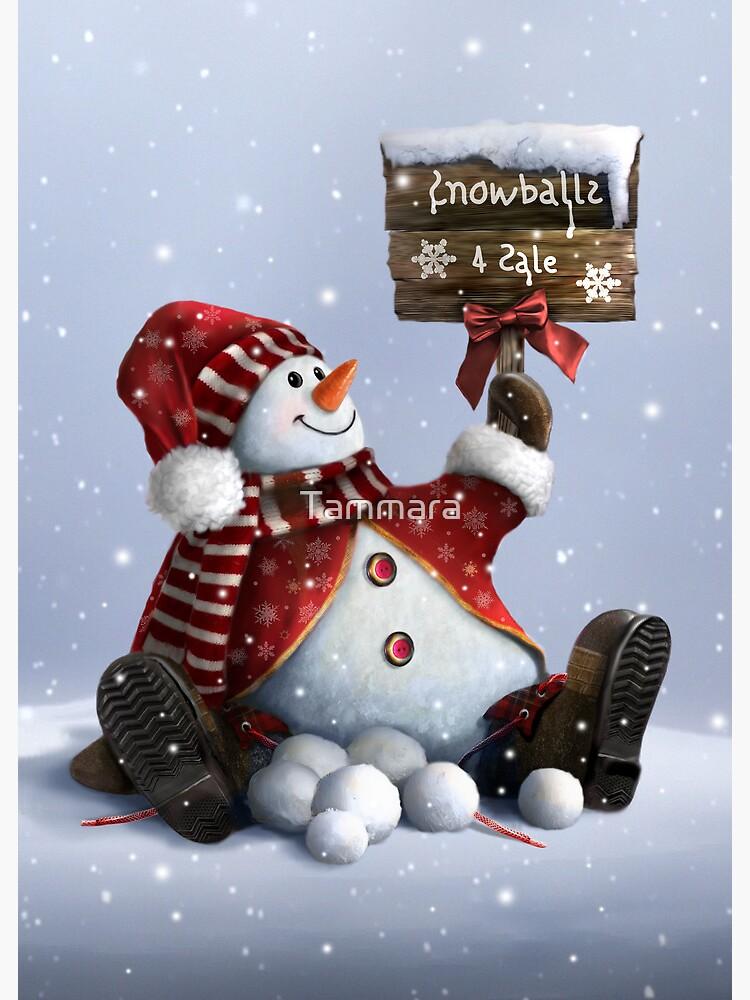 Xmas-Snowman by Tammara