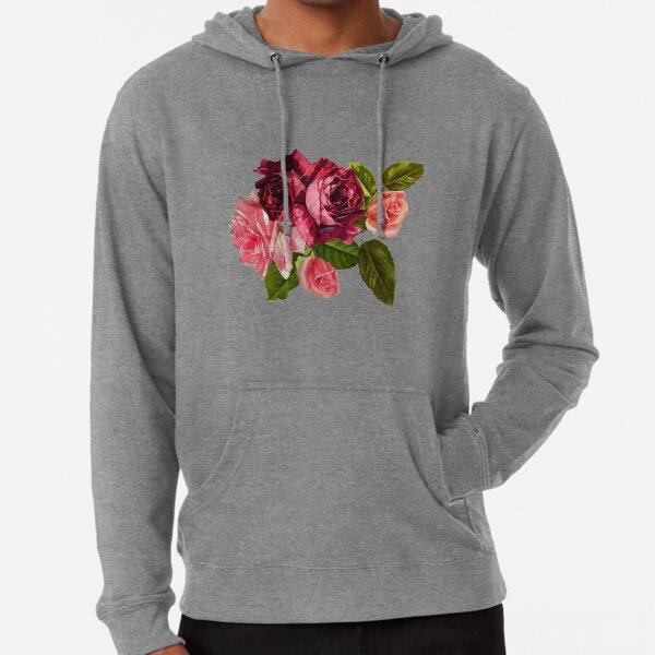 Vintage Rose Bouquet Lightweight Hoodie