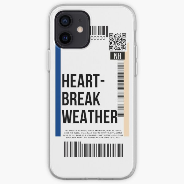 Heartbreak Weather Boarding Pass iPhone Soft Case