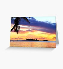 Secret Harbor Sunset Greeting Card
