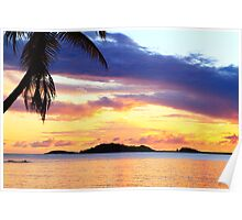Secret Harbor Sunset Poster