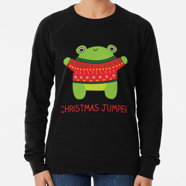 Christmas jumper, funny frog pun Lightweight Sweatshirt