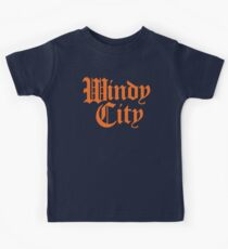 Windy City Gothic (Orange Print) Kids Clothes