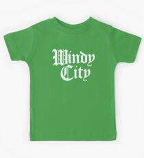 Windy City Gothic (White Print) Kids Clothes