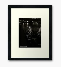 Vistula River at the Wawel Hill (Cracow). Poland. Framed Print