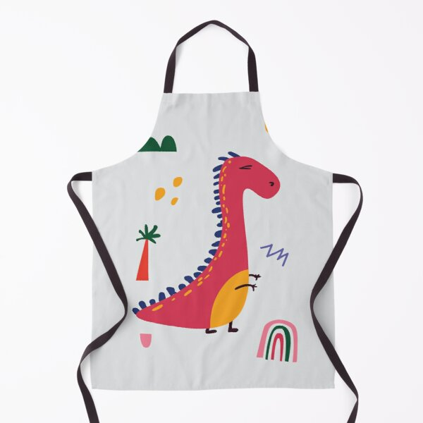 DINO RED Apron
